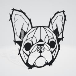 140212502_12.png Download OBJ file Bulldog Wall Sculpture 2D • Template to 3D print, Slashlist