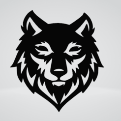 Wolf Wall Sculpture 2D.png Download OBJ file Wolf Wall Sculpture 2D • Design to 3D print, Slashlist