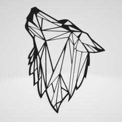 Wolf Wall Sculpture 2D v2.png Download OBJ file Wolf Wall Sculpture 2D v2 • Design to 3D print, Slashlist