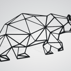 Bear Wall Sculpture 2D.png Download OBJ file Bear Wall Sculpture 2D • Object to 3D print, Slashlist