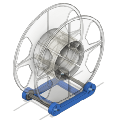 With_spool.png Download free STL file Snap-together Filament Spool Holder 608 bearings • 3D printer model, jakabo27