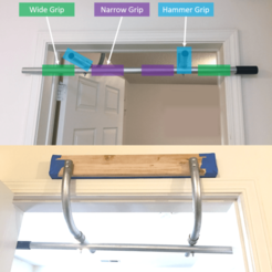 Picture2.png Download free STL file DIY Doorway Pull Up Bar Pieces Ninjaflex • 3D printable object, jakabo27