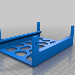 Meanwell_Stack_Lid.png Download free STL file Meanwell LRS-350 Mounting Feet and Ventilation Shelf • 3D printable object, jakabo27