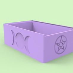 untitled.24.jpg Download STL file Tarot Deck Box • 3D printable object, Anest