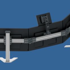 Snip.png Download STL file Triple monitor stand • 3D printing model, Stepanek3DPrint