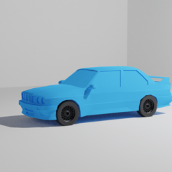 BMW E30 Rendering 1.png Download free STL file BMW M3 E30 Model • Object to 3D print, Trikeo_Arts