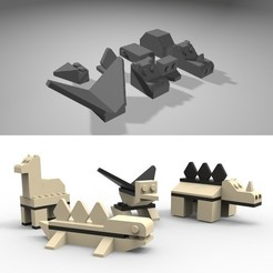 container_3d-lego-zoo-3d-printing-97184.jpg Download STL file 3D Lego Zoo • 3D printer design, peer_meller