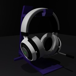 cascoz0001.jpg Download free OBJ file headphone or headset holder • 3D printable template, saick090