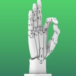 large.jpg Download free STL file Robotic Hand • 3D printable template, Jastake
