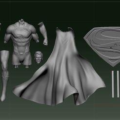 Capture.JPG Download STL file Man of Steel Superman 1/4 Statue  • Object to 3D print, CrestfallenBlue