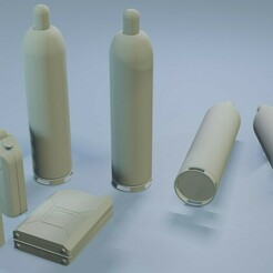 construction_set_canisters.jpg Download STL file Construction Set - Canisters - Wargamming Terrain • 3D printing template, Inxx