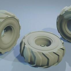 construction_wheel.jpg Download STL file Construction Set - Truck Wheel - Wargamming Terrain • 3D printer design, Inxx