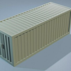construction_containter1.jpg Download STL file Construction Set - Container - Wargamming Terrain • 3D printable model, Inxx