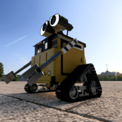 large (1).png Download STL file Wall-E robot • 3D printer object, TaraKant