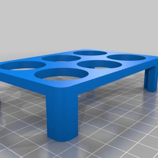 Télécharger fichier STL gratuit Plateau de peinture paramétrique - 2x3 • Modèle imprimable en 3D, onebitpixel