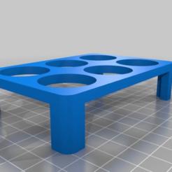 Download free STL Parametric Paint Pot Tray - 2x3, onebitpixel