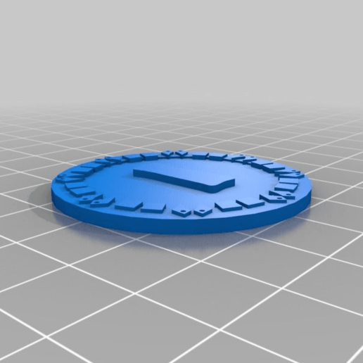 orky_objective_tokens_one.png Download free STL file orky objective marker and base • 3D printer object, onebitpixel