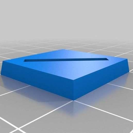 Télécharger fichier STL gratuit Base de wargaming paramétrique - fente de 20 mm • Objet pour impression 3D, onebitpixel