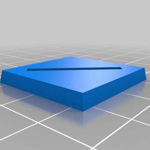Télécharger fichier STL gratuit Base de wargaming paramétrique - fente de 25 mm • Modèle pour imprimante 3D, onebitpixel