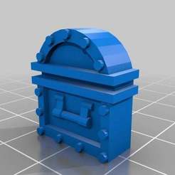 Download free 3D printer templates Heroquest - Treasure Chest, onebitpixel