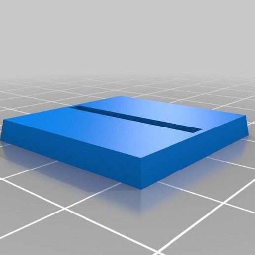 base_generator_20140916-24058-1pza4wy-0.jpg Télécharger fichier STL gratuit Base de Wargaming paramétrique - 25mm Horz Slot • Plan à imprimer en 3D, onebitpixel