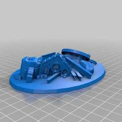Download free 3D printer files Flyer Base; ruins - 90 mm x 120 mm, onebitpixel