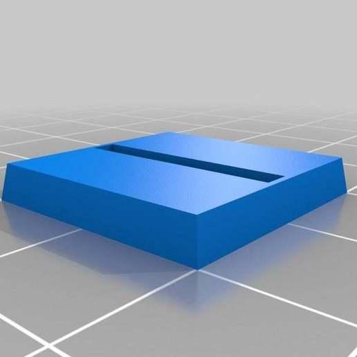 Télécharger fichier STL gratuit Base de Wargaming Paramétrique - Fente Horz 20mm • Design imprimable en 3D, onebitpixel