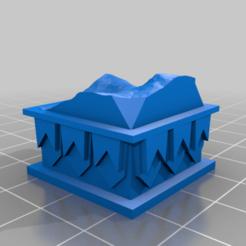 Download free 3D printing templates Dwarven Colemn Pillars, onebitpixel