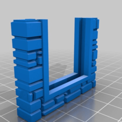 Download free STL OpenForge - Stone Brick Floor - Door Opening, onebitpixel