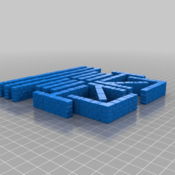 Download free 3D printer designs Brick Walls; 15mm, onebitpixel