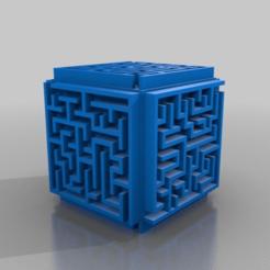 Download free STL file Random Maze Cube Box 50mm, onebitpixel