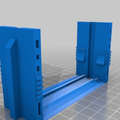Download free STL file Blast Doors - Double Wide • 3D print template, onebitpixel