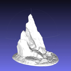 Download free STL Jutting stabby stone outcrop, onebitpixel