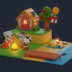 final.jpg Télécharger fichier STL Diorama de la traversée des animaux • Plan imprimable en 3D, Hirama