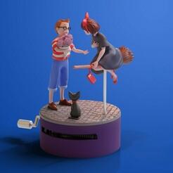 awdawdawdawdawdawd.jpg Télécharger fichier STL Le service de livraison de Kiki Music Box • Objet pour imprimante 3D, Hirama