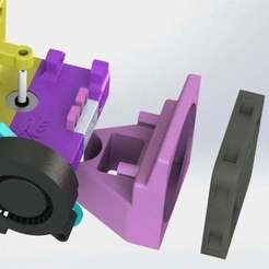 60mm_fan_mod_3.JPG Télécharger fichier STL gratuit Adaptateur de ventilateur 60mm pour le Lion Mount Single Bowden ! • Design pour imprimante 3D, MorganLowe