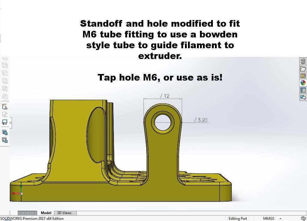 Non-bowden-Cariage-mod.jpg Télécharger fichier STL gratuit Un support d'extrudeuse Stock-ish pour Anet A8 et Alike ! (Inclut la chaîne et la monture ou sans chaîne !) • Objet pour impression 3D, MorganLowe