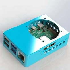 rpi_4_case_9.JPG Télécharger fichier STL gratuit Framboise Pi 4 B GPIO / Octoprint Ready Case ! Comprend le Slim Top et la monture VESA ! • Plan imprimable en 3D, MorganLowe