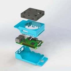 Raspberry_Pi_B_case_2020_mount_3.JPG Télécharger fichier STL gratuit Cadre Série 2020 Raspberry Pi 2 & 3 avec ventilateur de 60mm - Prêt pour l'octoprint ! • Design à imprimer en 3D, MorganLowe