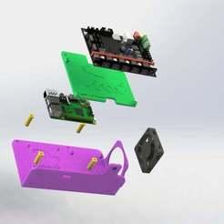skr.JPG Télécharger fichier STL gratuit Pi de framboise, MOSFET quadruple et SKR 1.3 Montage pour remplacer l'alimentation électrique du CR-10 • Objet pour impression 3D, MorganLowe