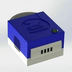 Improved_cube_1.jpg Download free STL file Raspberry Pi 4 Gamecube Inspired Case • Template to 3D print, MorganLowe