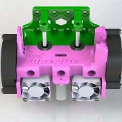 Superlite-9.JPG Télécharger fichier STL gratuit Superlite ! Support lion léger BL Touch Dual Bowden Extruder pour Anet A8 & Prusa i3 ! *Avec adaptateur de ventilateur de 60 mm ! • Plan à imprimer en 3D, MorganLowe