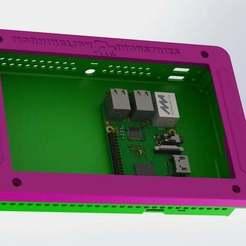 "pi-tab_1.JPG Download free STL file Raspberry Pi 7"" Handheld Tablet • 3D printing template, MorganLowe"