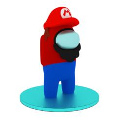 Among us - Mario.png Download free STL file Among us - Mario • 3D print object, JohnnyRyu