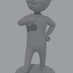 voult boy 3.png Download STL file Vault Boy • Template to 3D print, San4034