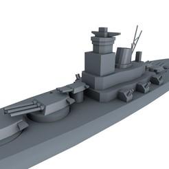 0.jpg Download STL file BATTLE SHIP YAMATO WW2 • 3D printer template, 3dDesigner