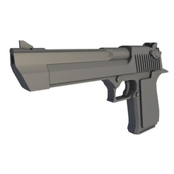 DESERT_EAGLE_0005.jpg Download STL file DESERT EAGLE PISTOL • Model to 3D print, 3dDesigner
