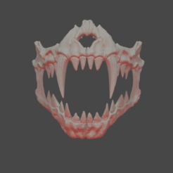 skull1.png Download STL file bone mask - JAWS • 3D printable object, GreenhornSculpting