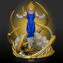 Vegeta_Composition.png Download STL file Vegeta Majin • 3D printer template, allucard21
