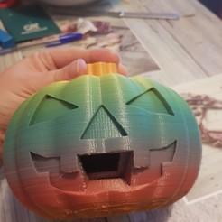 Download free STL file Jack-O-Lantern Candy Dispenser • 3D print template, liloudreams2